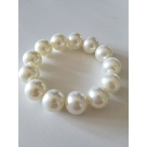 Giant Chunky Faux Pearl Costume Statement Bracelet